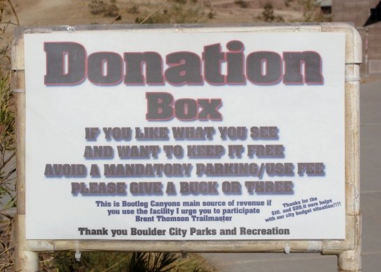 Closer view of text of sign.