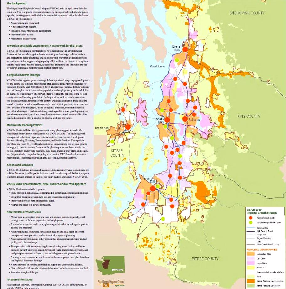 Jan   Seattle Smart Growth Mountains To Sound Greenway - Map of colorado population density