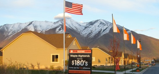 Affordable housing in Mapleton, a suburb southeast of Salt Lake City, $180,000+.