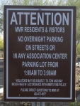 No Overnight Parking on streets, similar to Sunriver, Oregon, and Thousand Oaks, California.  This makes conditions safe for pedestrians and cyclists at night. Smart Growth Cities do not ban parking on streets.