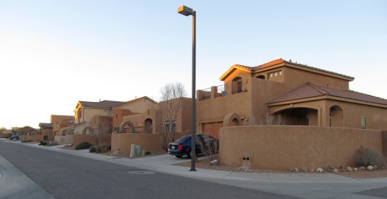 A new neighborhood in Rio Rancho, New Mexico.